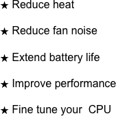 Reduce heat
